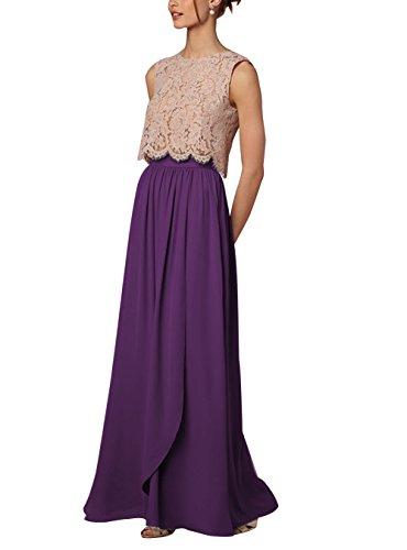 Maxi Violet Taille Jupe Longue CoutureBridal Haute t Soire Plage de Femme Chiffon Mariage pour Elgante 60xxSq7