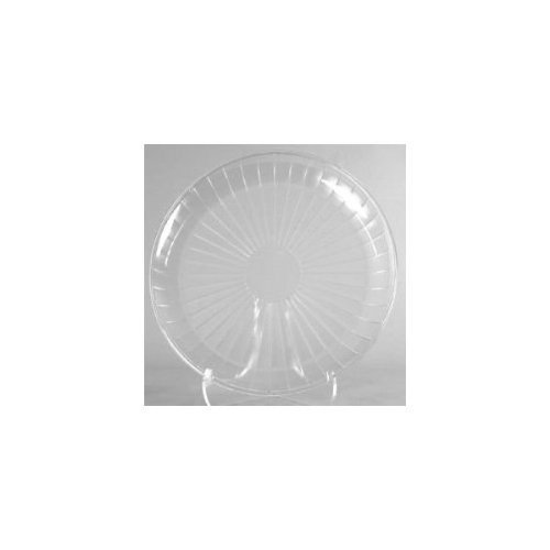 1 X Clear Plastic Serving Platter, Round 18-inch