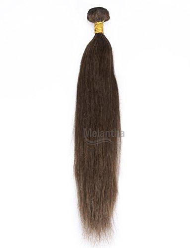 Melantha® 18inchBrazilian Virgin Human Hair Weft Silky Straight Hair Weave Queen Hair Extensions Grade 5A Color #4