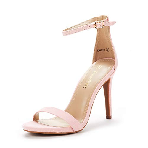 (DREAM PAIRS Women's Karrie Pink High Stiletto Pump Heel Sandals Size 6.5 B(M) US)