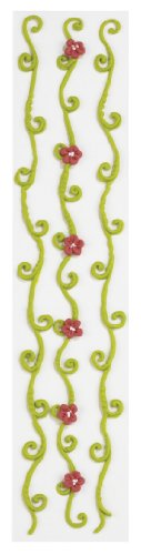Jolee's Boutique Confections Vine Icing Border Dimensional Stickers, Green and Red