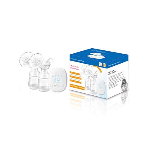 Double Electric Breast Pump Portable Breast Pump with Adjustable Suction /& Pumping Levels for Moms Comfort
