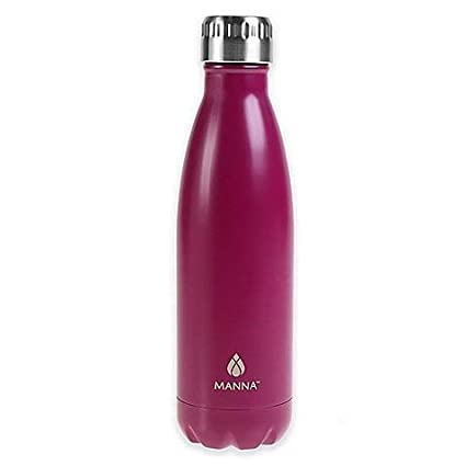 Manna Vogue Double Wall Insulated Stainless Steel Water Bottle, 17 oz.