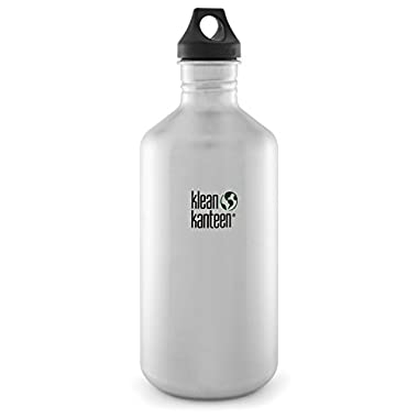 Klean Kanteen Bottle with Loop Cap, Brushed Stainless, 64-Ounce