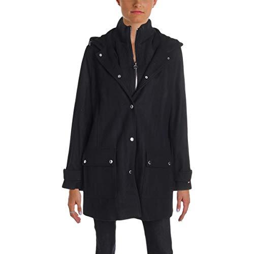 Tommy Hilfiger Womens Winter Wool Blend Car Coat Navy - Winter Women Tommy For Coats