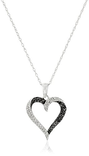 Black & White Diamond Pendant - 6