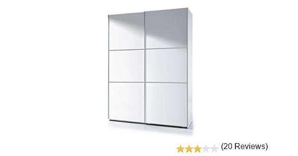 Habitdesign ARC150BO - Armario Dos Puertas correderas, Armario Dormitorio Acabado en Color Blanco Brillo, Medidas: 150 (Ancho) x 200 (Alto) x 63 cm ...