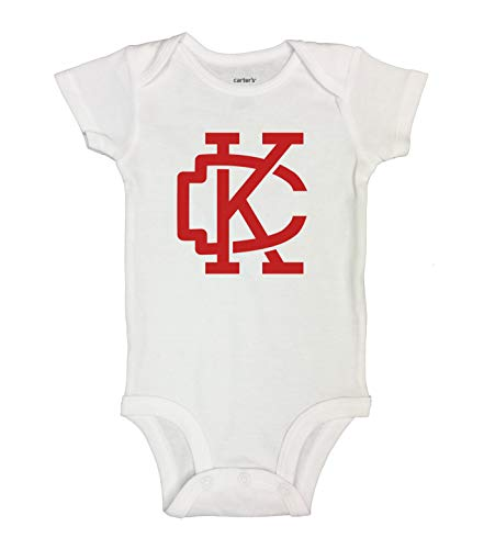 (Cute Football Lovers Shirts KC Royaltee Kansas City Proud Sports Collection 0-New Born, White)