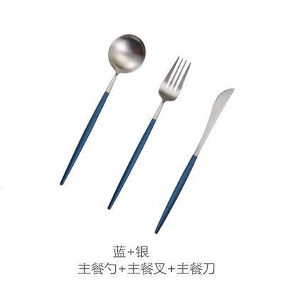 Cuchillo y tenedor portugués dos piezas oro negro oro blanco ...