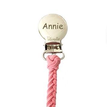 Amazon.com: Clip para chupete (Rosa) personalizar ahora ...