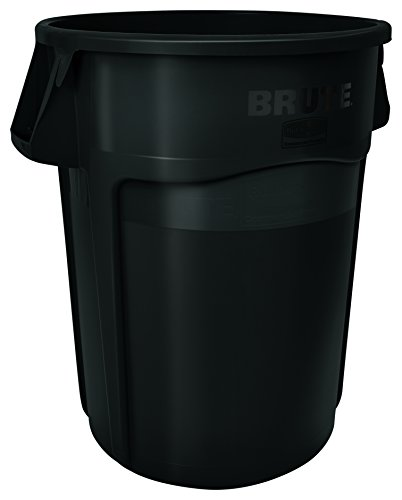 Rubbermaid Commercial FG264360YEL BRUTE Heavy-Duty Round Waste/Utility Container, 44-gallon, Yellow - Slim Jim Dolly