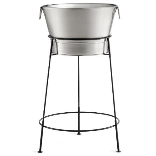 Tablecraft Remington Beverage Tub, Stainless Steel with Black Stand, 20-Inch by Tablecraft