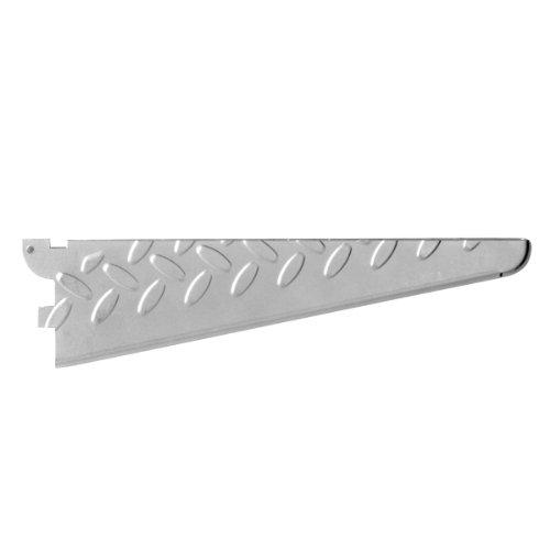 Sterling Fast Mount - John Sterling HEAVYWEIGHT Diamond Plate Shelf Support System Shelf Bracket, 10-inch , Platinum, 0202-10PM
