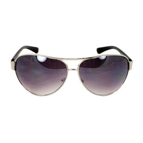 9ce4132fbe lovely MLC EYEWEAR Premium Quality Aviator Sunglasses UV400 Lens Technology  – F762SVRBK Comfortable Metal Frame with