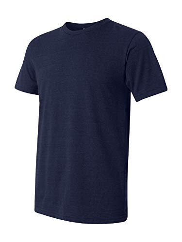 (Canvas 3413 Unisex Triblend Short-Sleeve T-Shirt, Navy, Large )