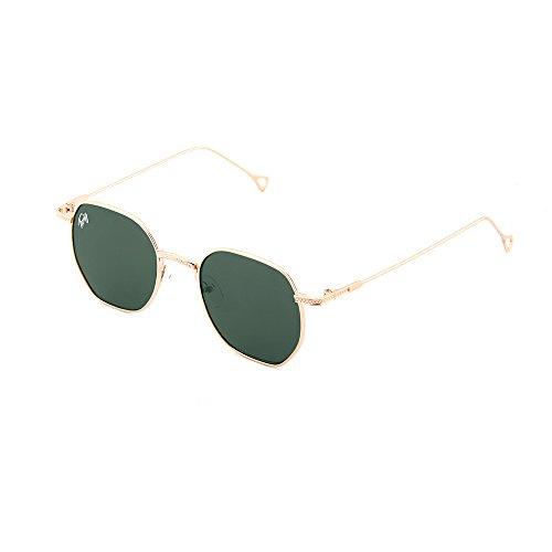 TWIG Bronce Oscuro hombre Gafas Verde de espejo mujer sol BASQUIAT HwxwB46Cq