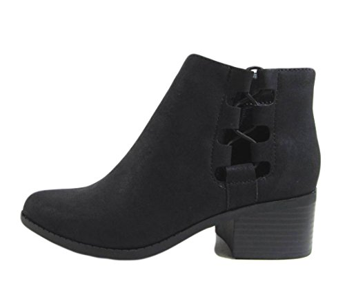 Low Tie Derby Heel with City Black Side Classified up Bootie Women's qFSEAwt
