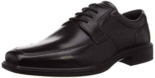 ECCO Men's Minneapolis Apron Toe Tie Oxford Black 46 M EU (12-12.5 -