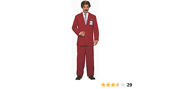Anchorman Ron Burgundy Adult Costume Suit, One Size