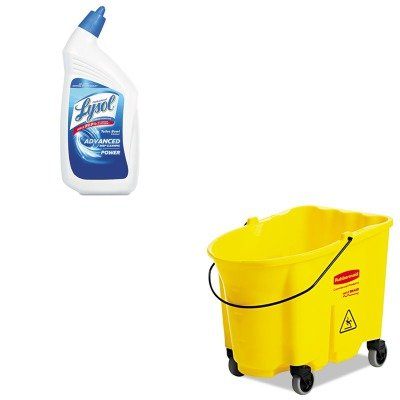 KITRAC74278CTRCP757088YEL - Value Kit - Rubbermaid-wave break 35 Quarts bucket with casters,yel (RCP757088YEL) and Professional LYSOL Brand Disinfectant Toilet Bowl Cleaner (RAC74278CT)