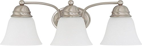 Nuvo Lighting 60/3266 Three Light Vanity, Brushed Nickel/Frosted Glass Brushed Nickel Vanity Lights