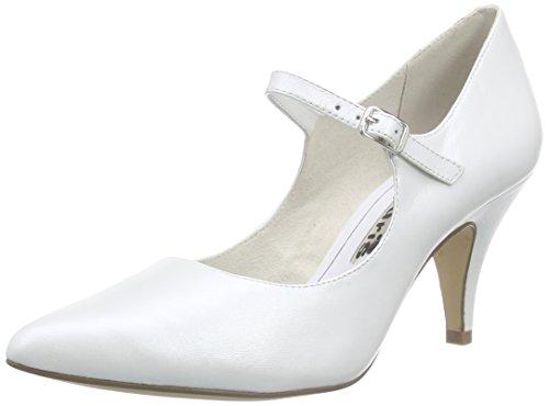 Tamaris 24422 Damen Mary Jane Halbschuhe Weiß (White 100)