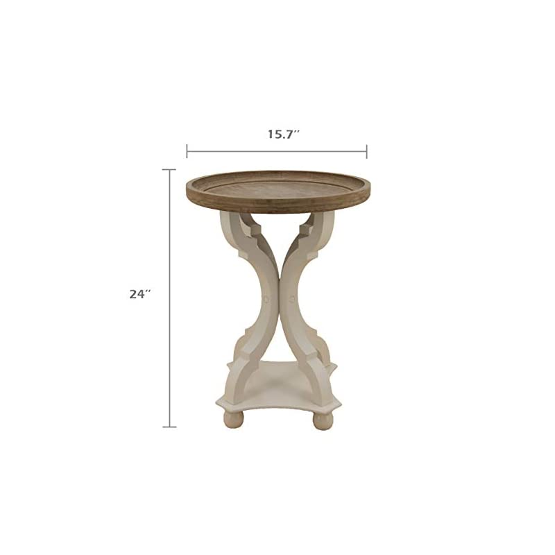 COZAYH Set of 2 Rustic Farmhouse Cottagecore Accent End Table, Natural Tray Top Side Table Nightstand for Family…