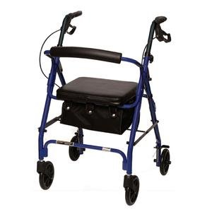 Junior Sized Rollator w/ Loop Brakes & Basket, Jr Rollator Bl-Blk Flame, (1 EACH, 1 EACH)