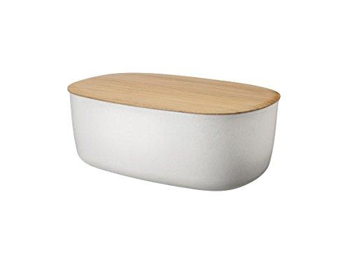 Stelton Rig-Tig Portapane bianco con coperchio/tagliere in bamboo Z00038-1