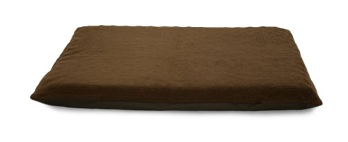 "Furhaven Pet Jm Terry Top Orthopedic Mat, Espresso, 25.5"" x"