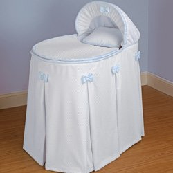Babykidsbargains Perfe Countly Pretty Blue Bassinet Liner Skirt and Hood, 13'' x 29''