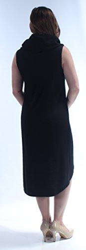 SKY Hi CHELSEA Neck New B 88 L Dress Black Womens 1149 B Sleeveless Cowl Lo drwzqr8