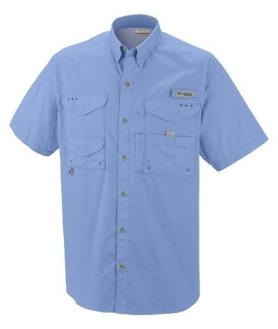 Columbia Men's Bonehead Short-Sleeve Work Shirt, White Cap Blue, 3XL by Columbia