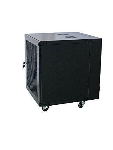 12U Wall Mount Network Server Cabinet Rack Enclosure Glass Door Lock 450MM Deep