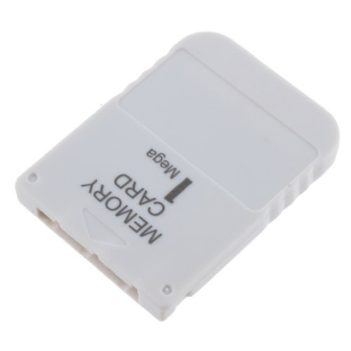 SODIAL White 1 MB 1MB Memory Card Stick For Playstation 1 One PS1 PSX Game