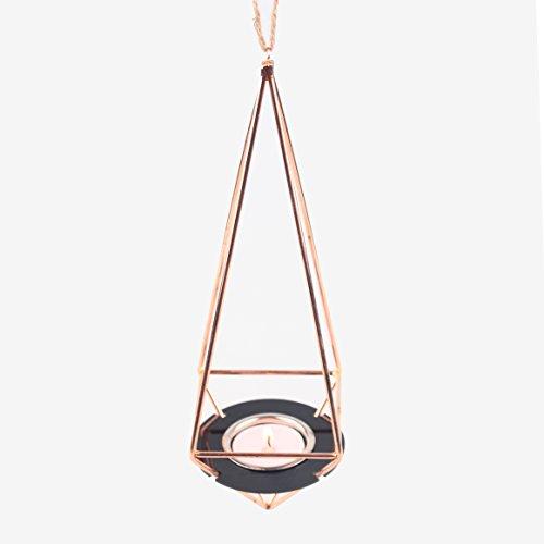 Hanging Geometric Decorative Mobile Tea Candle Holder Rack Set Himmeli Rose Gold