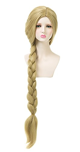 Tangled Wig (EDENKISS Cartoon Movie Character Cos-play Wig Adjustable for Both Adult and Kid with Free Wig Cap (Tangled LS908 86/24))