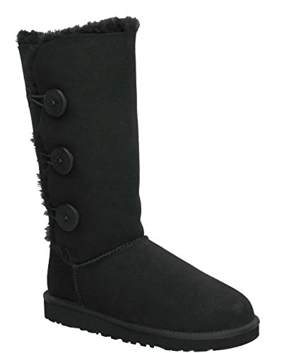 UGG Women's Bailey Button Triplet, Black, 6 M US