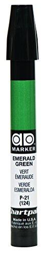 The Original Chartpak AD Marker, Tri-Nib, Emerald Green, 1 Each (P21)