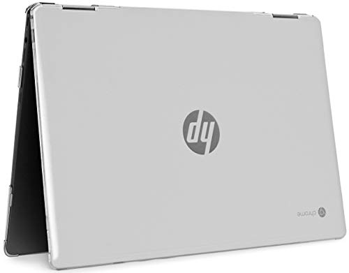 """mCover Hard Shell Case for 14"""" HP Chromebook X360 14-DA0000 Series laptops (NOT Compatible with Other HP Chromebook & Windows laptops) (Clear)"""