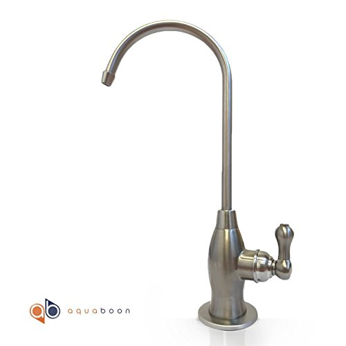 Aquaboon Water Filter Purifier Faucet for Any RO Unit or Water Filtration System (Contemporary, BRUSHED NICKEL) by Aquaboon