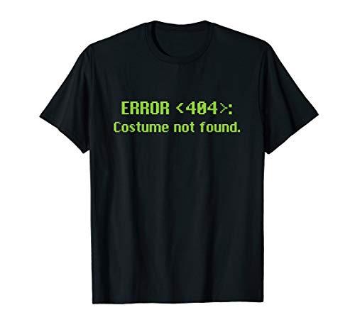 Error 404 Costume Not Found Halloween -