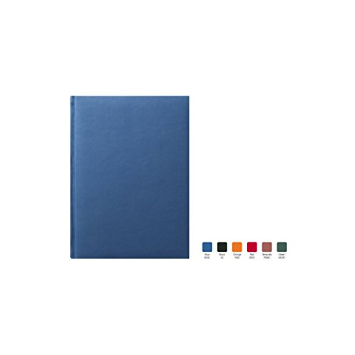 SYMPHONY Ruled, Padded Executive Hardcover Notebook Journal with Premium Paper, 256 Lined Pages, With Book Mark Ribbons, Lined Pages, Blue Cover, Size 7