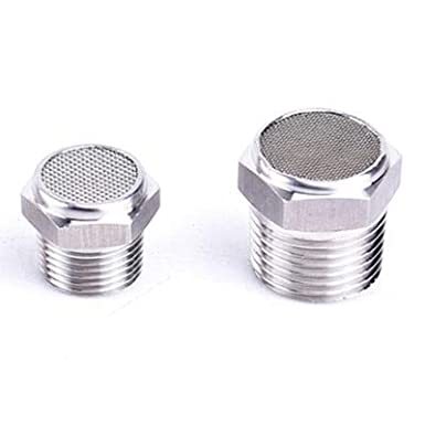 Fevas 1//8 1//4 3//8 1//2 3//4 1 BSP Male Pneumatic Silencer Muffler Connector Air Fitting 304 Stainless Steel Color: High Head, Specification: 3//8