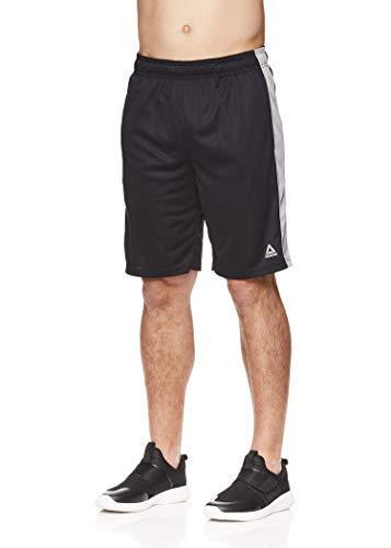 Reebok Men's Drawstring Shorts - Athletic Running & Workout Short w/Pockets - Dadson Black Heather, Small