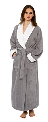 Bath & Robes Womens 100% Cotton Chenille Robe, Long Bathrobe
