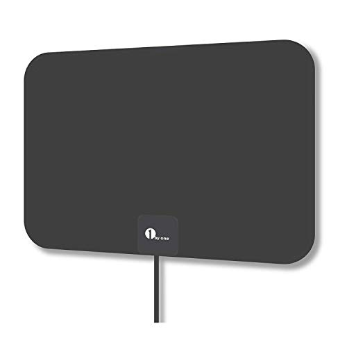 1byone Indoor Amplified HDTV Antenna [2019 Newest] with Long Range Support 4K 1080P & All Older TV