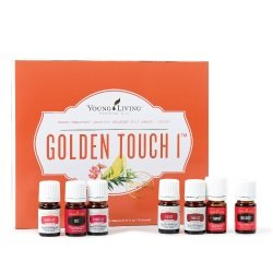 Young Living, Golden Touch 1 - Essential Oil Collection Set, Young Living Essential Oils - Melrose, Raven, R.C, DiGize, Endoflex, Thieves, Juvaflex