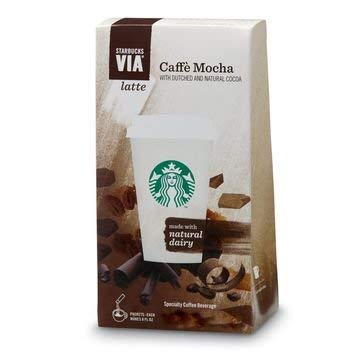 Starbucks Via Instant Latte Caffe Mocha Instant Coffee 1.3 oz. Packets (5 Packets Total)