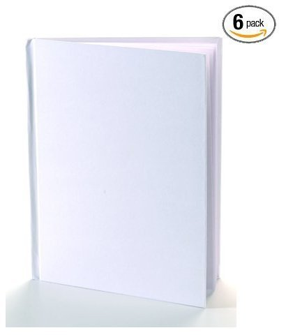 White Blank Books with Hardcovers 8.5''W x 11''H (6 Books / Pack) by Ashley Productions.inc